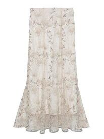 レーススカート Lily Brown リリーブラウン スカート ロングスカート ホワイト ブラック ピンク【送料無料】[Rakuten Fashion]