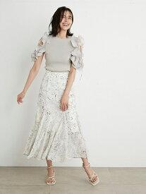 ヘムフレアプリントスカート SNIDEL スナイデル スカート ロングスカート ホワイト ブラック ベージュ【送料無料】[Rakuten Fashion]