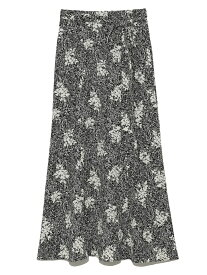 プリントナロースカート SNIDEL スナイデル スカート ミニスカート ブラック ホワイト ピンク【先行予約】*【送料無料】[Rakuten Fashion]