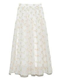 ジャガードボリュームスカート SNIDEL スナイデル スカート ミニスカート ホワイト ブラック ピンク ネイビー【先行予約】*【送料無料】[Rakuten Fashion]