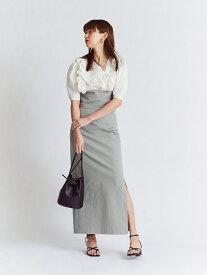 スリットペンシルスカート SNIDEL スナイデル スカート ロングスカート ブラウン ホワイト レッド【先行予約】*【送料無料】[Rakuten Fashion]