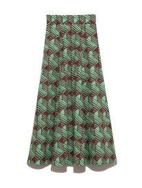 [Rakuten Fashion]【SALE/45%OFF】コットンボリュームフレアプリントSK SNIDEL スナイデル スカート フレアスカート ブラウン ピンク【RBA_E】【送料無料】