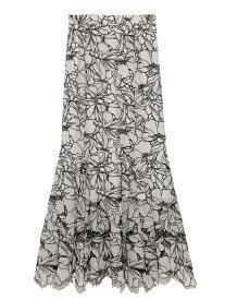 カッティングレースマーメイドスカート SNIDEL スナイデル スカート ロングスカート ホワイト ベージュ【送料無料】[Rakuten Fashion]