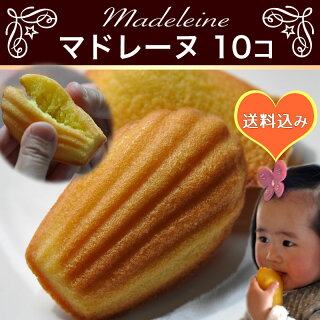 送料無料マドレーヌ(うさぎのおこびれ)10個ふわっと薫るふんわりおいしいやさしいおやつプレゼント贈り物自分へのご褒美に手作りお菓子詰合せ【RCP】祝・合格[おめでとう]ラベルあります。