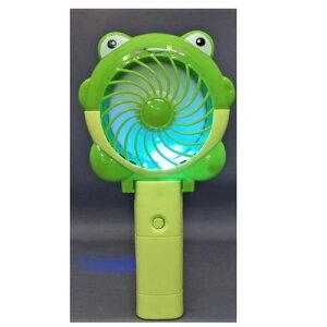 USB充電式扇風機カエル型ライト付き097426【送料無料(北海道、沖縄、離島は配送不可)】