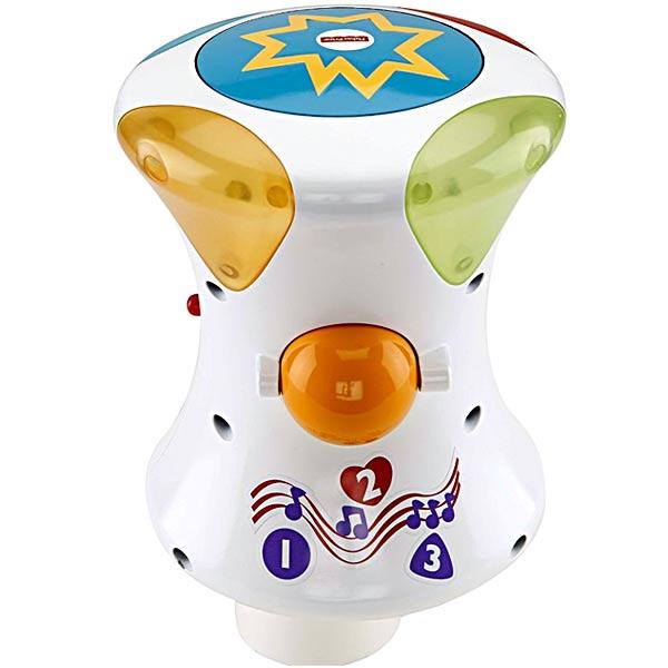 【数量限定目玉】フィッシャープライス カラフルライト&サウンド!2WAY指遊びドラム ベビーおもちゃ知育玩具