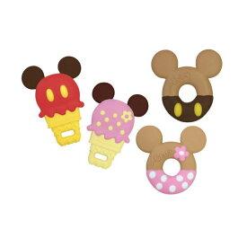 【おまかせ便で送料無料】錦化成 歯がため ドーナツ型/アイスクリーム型 ミッキーマウス/ ミニーマウス 歯固め ベビーおもちゃ