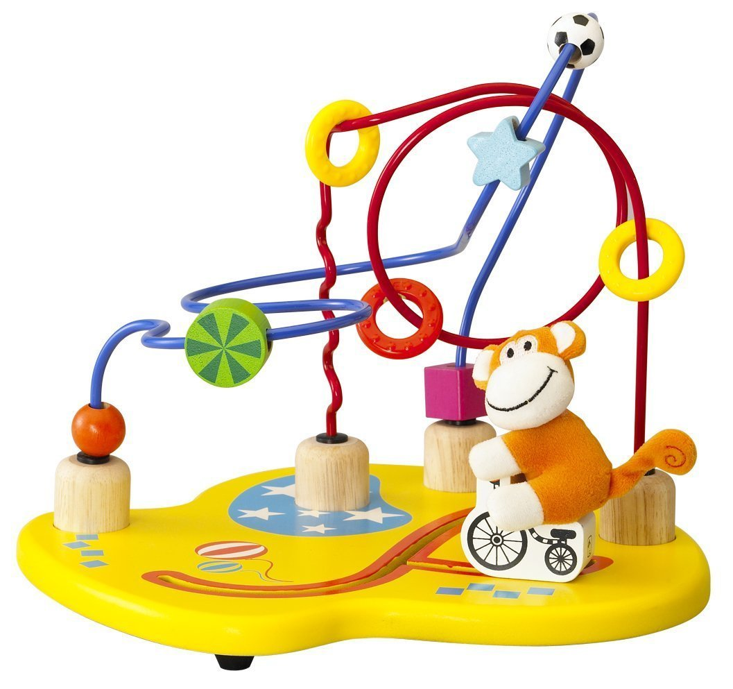 【数量限定目玉商品】ワンダーワールド サーカスビーズコースター 知育玩具 おもちゃ 木のおもちゃ 木製玩具1歳