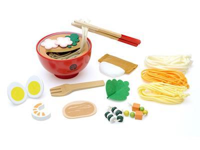 ウッディプッディ木のおもちゃ はじめてのおままごと めん料理セット ままごと おままごと 知育玩具 おもちゃ