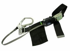 織ロープ長さ調節タイプの胴ベルト型墜落制止用器具 ツヨロン リトラ安全帯 黒 Mサイズ TB-RN-590-BLK-M-BP
