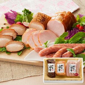 【送料無料】三重 伊賀上野の里 つるし焼豚&ロースハム&ウインナー詰合せ 3種入
