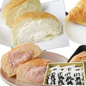 【送料無料】清水屋食品 生クリームパンセット 16個入