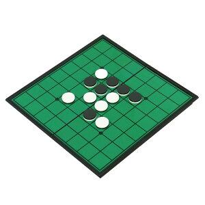 折りたたみで持ち運び便利 マグネットでずれにくいゲームの定番 マグネットリバーシ HAC855