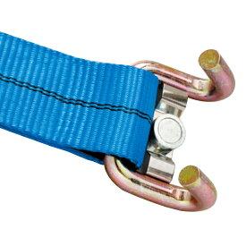 【送料無料】荷締めラッシングベルト 50mm幅 2m×7m マグネットフック ロングラチェット