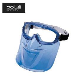 保護メガネ アトム フリーサイズ No.1652831A ATOM ブルー クリアレンズ マウスガード付き 眼鏡の上から 防曇 耐傷性 スポーツ アウトドア bolle A工D