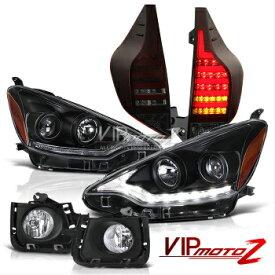 トヨタ アクア ヘッドライト 2012-2014 Toyota Aqua NHP10 Prius C Black JDM Headlight Red Smoke Tail Light Fog 2012-2014トヨタアクアNHP10プリウスCブラックJDMヘッドライトレッドスモークテールライトフォグ