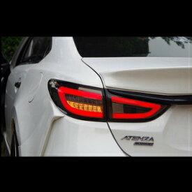 マツダ アテンザ テールライト Smoke Type LED Tail Lights Rear Lamp For Mazda 6 Atenza M6 2014~2016+ マツダ6のためにスモークタイプのLEDテールライトリアランプアテンザM6 2014?2016 +