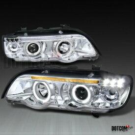 BMW ヘッドライト BMW E53 X5 HALO PROJECTOR HEADLIGHTS LAMPS LEFT+RIGHT CHROME BMW E53 X5 HALOプロジェクターヘッドライトLAMPS LEFT + RIGHT CHROME