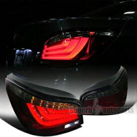 BMW テールライト 2004-2007 BMW E60 5-Series LED Chrome Housing Red Smoke Lens Tail Lights 2004-2007 BMW E60 5シリーズLEDクロームハウジングレッドスモークレンズテールライト