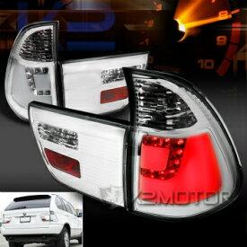 BMW テールライト 2000-2006 BMW E53 X5 Chrome LED Rear Brake Lamps Tail Lights Left+Right 2000-2006 BMW E53 X5クロームLEDリアブレーキランプテールライト左+右