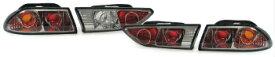 アルファロメオ テールライト Chrome smoked finish tail rear lights for Alfa Romeo 156 Sportwagon sedan 97-03 Chromeはアルファロメオ156スポーツワゴン車セダン97から03のための仕上げテールリアライトをスモーク