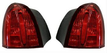 フォード リンカーン テールライト 1998 - 02 LINCOLN TOWN CAR TAIL LIGHT W/O EMBLM W/CARTIER MDL LEFT & RIGHT PAIR 1998年から1902年リンカーン・タウンカーテールライトW / O EMBLM W / CARTIER MDL LEFT&RIGHT PAIR