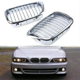 BMW グリル Chrome Front Bumper Hood Grills Grille Cover For BMW 5 Series E39 1997-2003 Car BMW 5シリーズE39 1997から2003年の車のためにクロームフロントバンパーフードグリルグリルカバー
