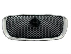 ジャガー グリル For Jaguar XF 2009-2011 Pre-Facelift Grille Grill Chrome Black XF-R Style ジャガーXF 2009-2011プレ改築グリルグリルクロームブラックXF-Rスタイルのための