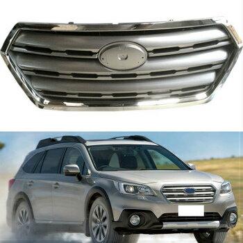 スバル Outback グリル ABS Front Bumper Grille Grill Overlay For Subaru Outback 2015-2016 スバルアウトバック2015-2016についてはABSフロントバンパーグリルグリルオーバーレイ