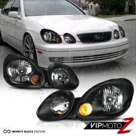 レクサス ヘッドライト 1998-2005 Lexus GS300 GS400 GS430 Aristo 2JZ JDM Black Front Headlights Assembly 1998-2005レクサスGS300 GS400 GS430アリスト2JZ JDMブラックフロントヘッドライトアセンブリ