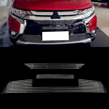 三菱 アウトランダー グリル 3PCS Front Grill Grille Trims Aluminium For Mitsubishi Outlander 2016 三菱アウトランダー2016について3PCSフロントグリルグリルトリムアルミニウム