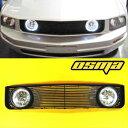 フォード グリル 2005-2009 Ford Mustang V6 Base Black Front Grill Grille Halo Clear Fog ...