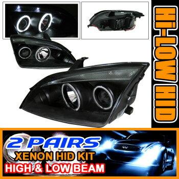 Ford Focus ヘッドライト 2 Set HID 05-07 Focus Zx4 CCFL Halo Projector Headlight 2セットは05-07フォーカスZX4 CCFLヘイロープロジェクターヘッドライトをHID