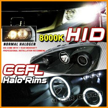 Acura RSX ヘッドライト 05-06 RSX Black CCFL Halo Projector Headlight + Xenon HID 05-06 RSXブラックCCFLヘイロープロジェクターヘッドライト+キセノンHID