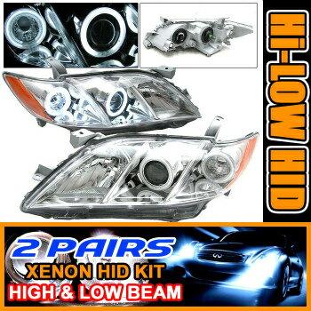Toyota Camry ヘッドライト 2 Sets HID 07-09 Camry CCFL Halo Projector Headlight 08 2セットはヘッドライト08 07-09カムリCCFLヘイロープロジェクターをHID