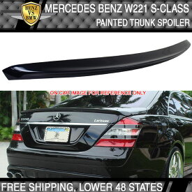 USパーツ 07-13ベンツSクラスW221トランク・スポイラー・ペイント#890 Cavansitblau Metallic ABS 07-13 Benz S-Class W221 Trunk Spoiler Painted # 890 Cavansitblau Metallic ABS