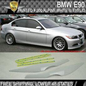 USパーツ USAストック06-11 BMW E90 ABSフロント眼瞼眉塗装#300アルパインホワイトIII USA Stock 06-11 BMW E90 ABS Front Eyelid Eyebrow Painted # 300 Alpine White III