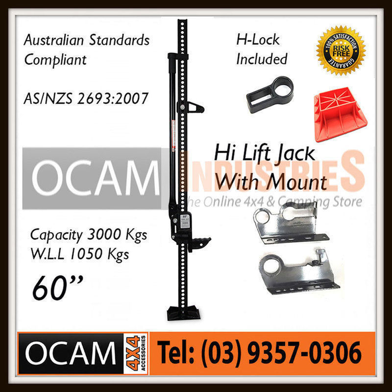 USワイドフェンダー ハイリフトジャックファームヘビーデューティーブラック60インチマウント& ベース4x4 4WD High Lift Jack Farm Heavy Duty Black 60 inch Mount & Base 4x4 4WD