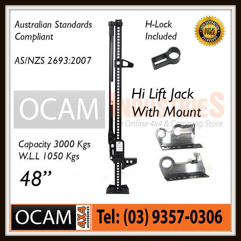 USワイドフェンダー OCAMハイリフトジャックファームヘビーデューティーブラック48インチ& マウント4x4 4WD OCAM High Lift Jack Farm Heavy Duty Black 48 inch & Mount 4x4 4WD