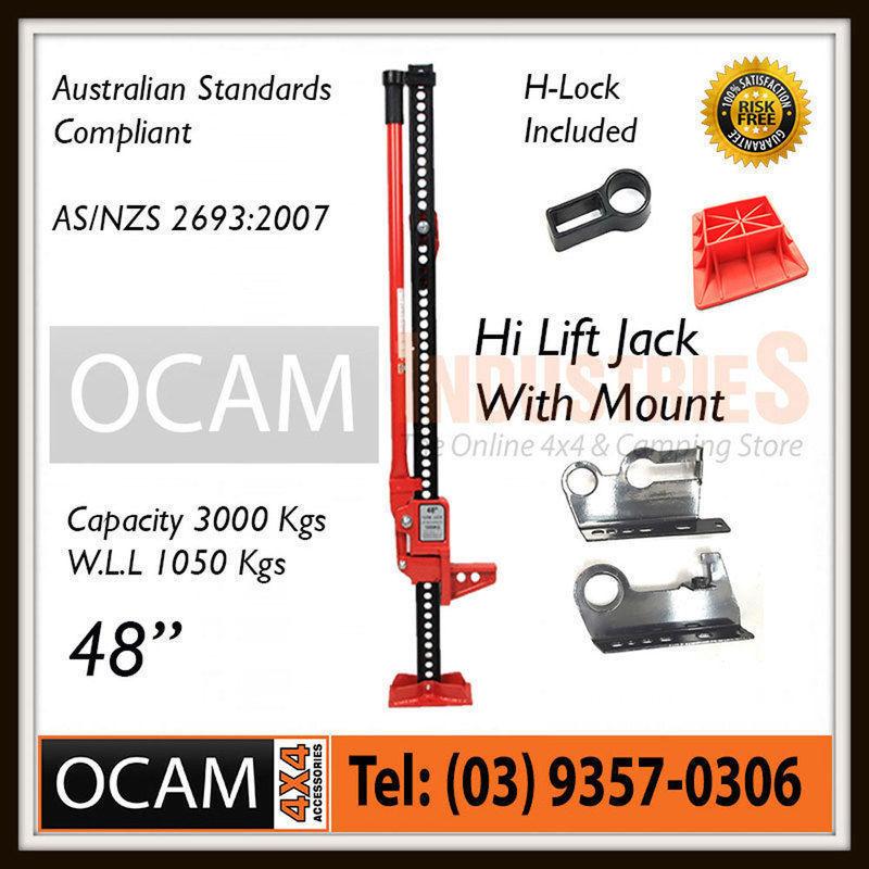 """USワイドフェンダー ハイリフトジャックファームヘビーデューティーレッド48インチマウント& ベース4x4 """" High Lift Jack Farm Heavy Duty Red 48 inch Mount & Base 4x4"""""""
