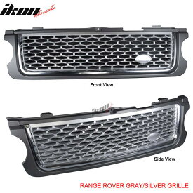 USグリル 10-12ランドローバーレンジローバーL322フロントフードグリルグレーシルバーメッシュNew 10-12 Land Rover Range Rover L322 Front Hood Grille Gray Silver Mesh New