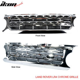 USグリル 10-12 Land Rover Lr4ディスカバリー4クロームフロントフードメッシュグリル 10-12 Land Rover Lr4 Discovery 4 Chrome Front Hood Mesh Grille