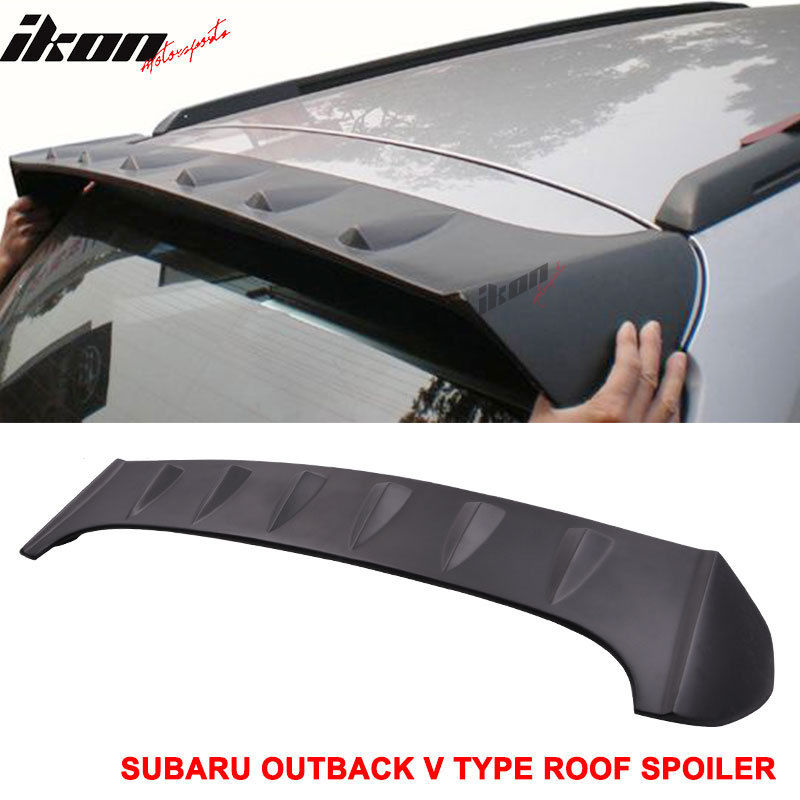 USスポイラー 10-14スバルアウトバックVタイプアンペイントルーフスポイラー(ABS) 10-14 Fit For Subaru Outback V Type Unpainted Roof Spoiler (ABS)