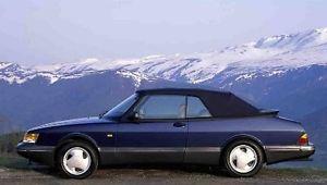幌 Saab 900 Black Stayfast Convertibleトップ1987-1994 Saab 900 Black Stayfast Convertible Top 1987-1994