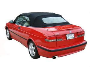 幌 Saab 9-3 Black OEMドイツのコンバーチブルトップフード1998-2003 Saab 9-3 Black OEM German Convertible Top Hood 1998-2003