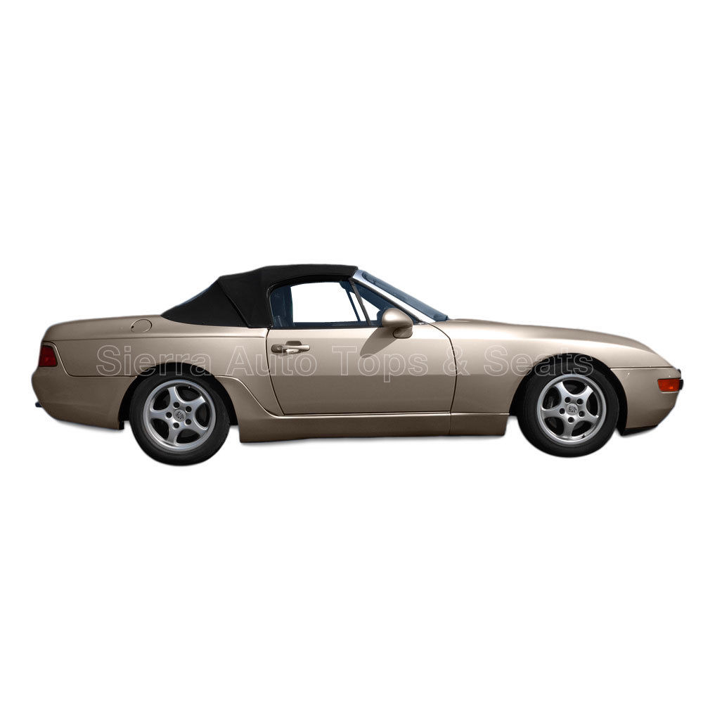 幌 Porsche 944/968 Convertible Top 89-95,2ピース、HaartzツイルファーストIIクロス、ブラック Porsche 944/968 Convertible Top 89-95, 2 piece, Haartz Twillfast II Cloth, Black