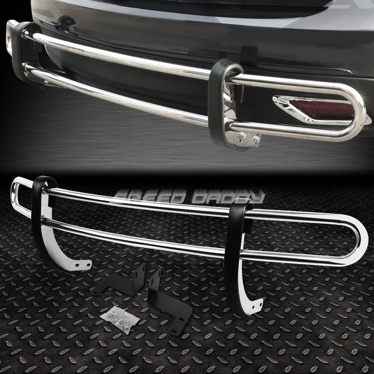 グリル 08-15日産自動車用ステンレススチールダブルリヤバンパープロテクターガード STAINLESS STEEL DOUBLE BAR REAR BUMPER PROTECTOR GUARD FOR 08-15 NISSAN ROGUE