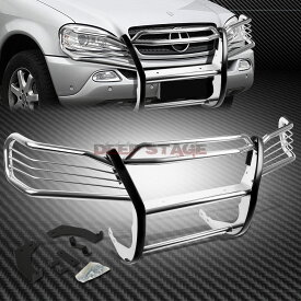 グリル クロムステンレスフロントバンパーグリルガードfor 98-05 MERCEDES M-CLASS W163 CHROME STAINLESS STEEL FRONT BUMPER GRILL GUARD FOR 98-05 MERCEDES M-CLASS W163
