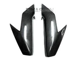 フェアリング suzuki 2008 - 2011スズキGSX1300BK B-キングカーボンファイバーヘッドライトサイドパネル - 1x1 2008 - 2011 Suzuki GSX1300BK B-King Carbon Fiber Headlight Side Panels - 1x1