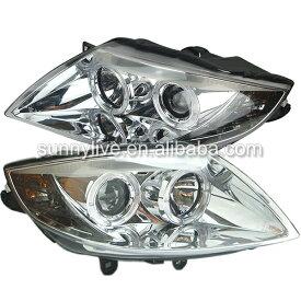 USヘッドライト[右ハンドル・日本仕様]BMW E85 Z4プロジェクターレンズ用ヘッドランプエンジェルアイ2003?2008 For BMW E85 Z4 projector lens Head Lamp Angel Eyes 2003 to 2008 year SN Chrome Housing
